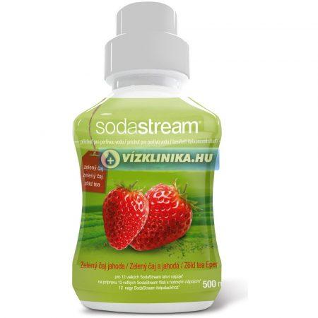 Zöld Tea, eper ízesítéssel, 500 ml szörp, SodaStream