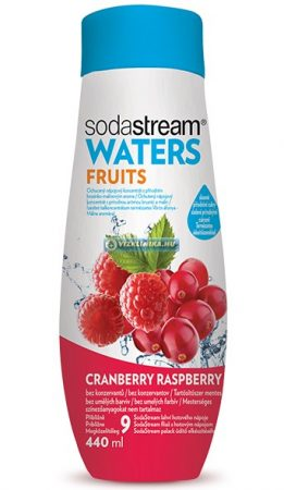 WATERS FRUITS Vörösáfonya/Málna szörp 440 ml (fruktózzal)