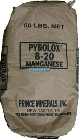 Vas- és mangán eltávolító PYROLOX töltet, 13,6 liter/zsák