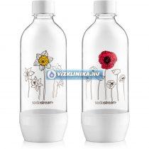 SodaStream szénsavasító palack, 2 darab, mintás, hagyományos szódagéphez