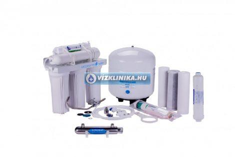 Economy Water RO-Traditional 7 lépcsős fordított ozmózis rendszerű víztisztító (50GPD), UV lámpával és ásványi anyag visszasózóval